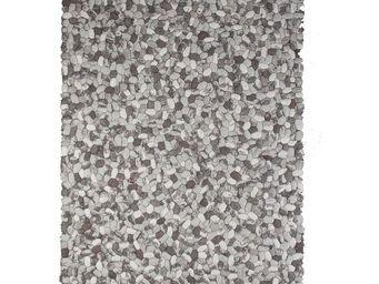 WHITE LABEL - tapis 300 x 200 cm - galets - l 300 x l 200 - lain - Tapis Contemporain