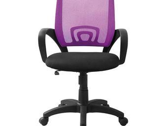 WHITE LABEL - fauteuil de bureau violet - darwin - l 56 x l 56 x - Fauteuil De Bureau