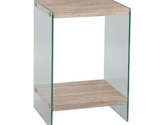 WHITE LABEL - sellette - francisco - l 46 x l 40 x h 66 - verre  - Sellette