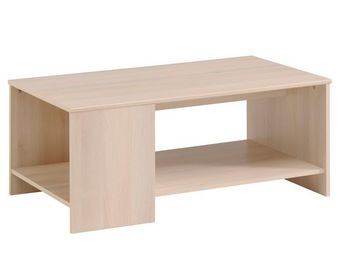 WHITE LABEL - table basse acacia clair - nity - l 100 x l 54 x h - Table Basse Rectangulaire