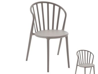 WHITE LABEL - duo de chaises taupe - pub - l 52 x l 56 x h 84 -  - Chaise