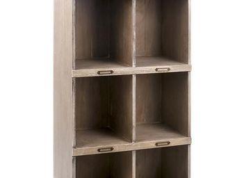 WHITE LABEL - meuble de rangement 8 niches - clarige - l 60 x l  - Bibliothèque