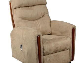 WHITE LABEL - fauteuil releveur taupe - trendy - l 75 x l 95 / 1 - Fauteuil