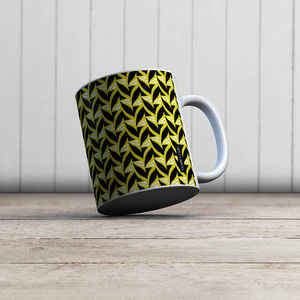 la Magie dans l'Image - mug abstrait fifties moutarde - Mug