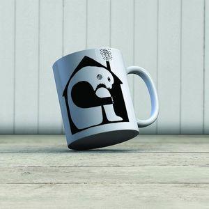 la Magie dans l'Image - mug ogre maison noir & blanc - Mug