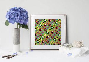 la Magie dans l'Image - print art héros pattern vert petit - Tableau Décoratif
