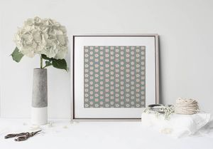 la Magie dans l'Image - print art lotus vert-de-gris beige - Poster