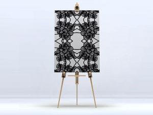 la Magie dans l'Image - toile graphic flowers white - Impression Numérique Sur Toile