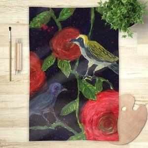 la Magie dans l'Image - foulard oiseaux de nuit - Foulard Carré