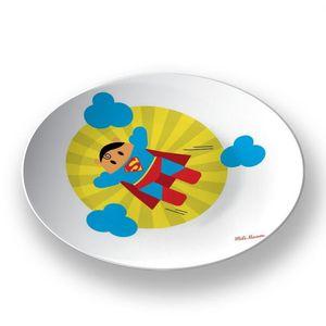 la Magie dans l'Image - assiette héros superman - Assiette De Présentation