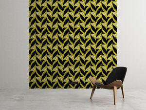 la Magie dans l'Image - grande fresque murale abstrait fifties moutarde - Papier Peint Panoramique