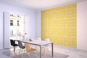 la Magie dans l'Image - grande fresque murale anis jaune foncé - Papier Peint Panoramique