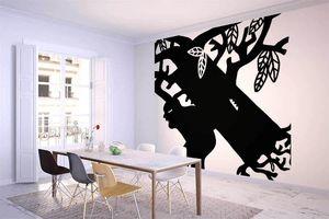 la Magie dans l'Image - grande fresque murale ogre arbre noir & blanc - Papier Peint Panoramique