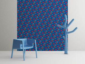 la Magie dans l'Image - grande fresque murale petits coeurs bleu - Papier Peint Panoramique