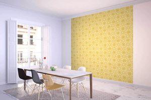 la Magie dans l'Image - grande fresque murale trèfle jaune foncé - Papier Peint Panoramique