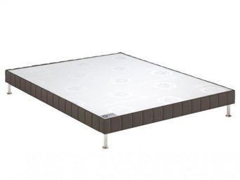 Bultex - bultex sommier tapissier confort ferme taupe 110* - Sommier Fixe À Ressorts