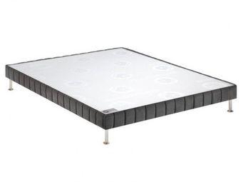 Bultex - bultex sommier tapissier confort ferme gris fumé  - Sommier Fixe À Ressorts