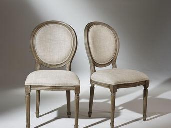 robin des bois - 2 chaises médaillon lin premium - Chaise Médaillon