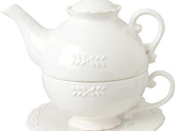 Amadeus - tea for one et sous tasse gustave blanche - Théière