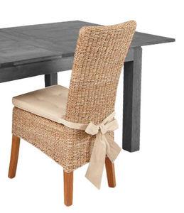 Aubry-Gaspard - chaise en abaca et teck ciré - Chaise