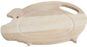Aubry-Gaspard - planche à découper cochon en hévéa - Planche À Découper