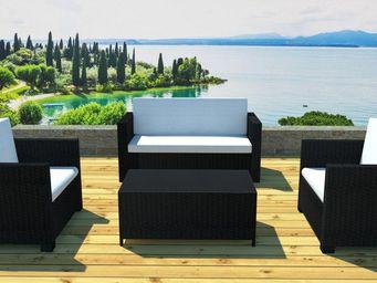 jardindeco - salon jardin résine canapé et fauteuils - Salon De Jardin