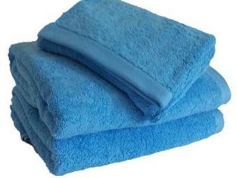 Liou - serviette de bain bleu cyclades - Serviette De Toilette