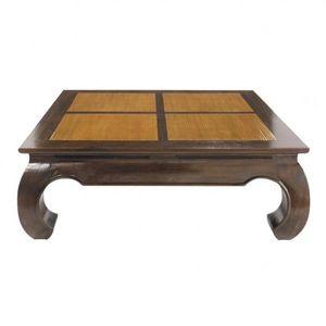 Maisons du monde - table basse carrée bambo - Table Basse Carrée