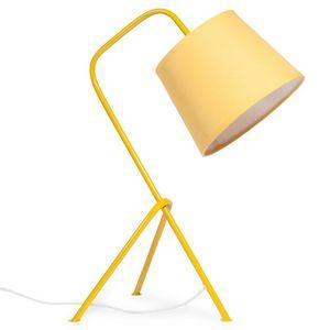 Maisons du monde - vintage yellow - Lampe À Poser