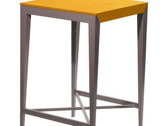 City Green - table haute de jardin portofino - 70 x 70 x 105 cm - Mange Debout