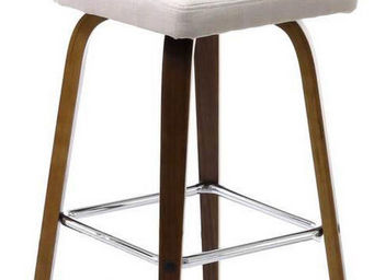 ZAGO - tabouret de bar avec pieds walnut leti (lot de 2) - Chaise Haute De Bar