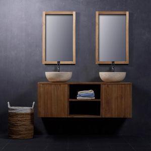 BOIS DESSUS BOIS DESSOUS - meuble de salle de bain en bois de teck 135 - Meuble De Salle De Bains