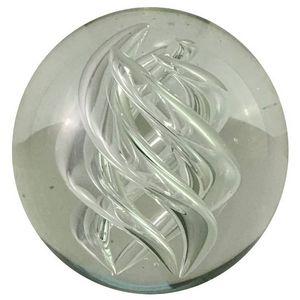 CHEMIN DE CAMPAGNE - presse-papier sulfure en verre ø8.5 cm - Presse Papier