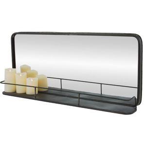 CHEMIN DE CAMPAGNE - miroir tablette étagère industriel long en fer mét - Miroir
