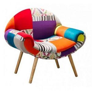 Mathi Design - fauteuil patchwork coloré hippie chic - Fauteuil