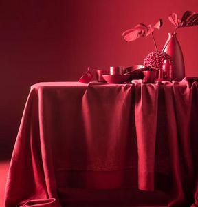 BLANC CERISE - -délices de lin___ - Nappe Rectangulaire