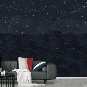 ISIDORE LEROY - cosmos nuit-- - Papier Peint