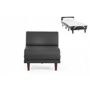 Likoolis - pac70s-grnegro - Fauteuil Lit