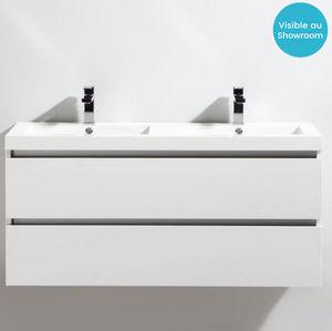 Thalassor - city 120 bianco - Meuble Double Vasque
