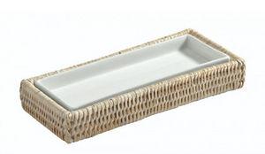 ROTIN ET OSIER - ronan porcelaine et rotin - Plateau