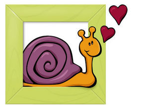 DECOLOOPIO - tableau escargot - Sticker Décor Adhésif Enfant