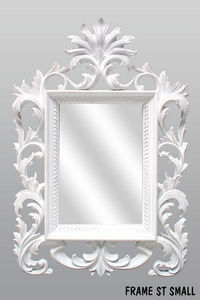 DECO PRIVE - miroir beauty blanc sculpte - Miroir
