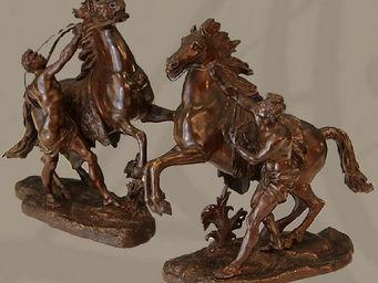 ALIÉNOR ANTIQUITÉS - les chevaux de marly - Sculpture Animalière