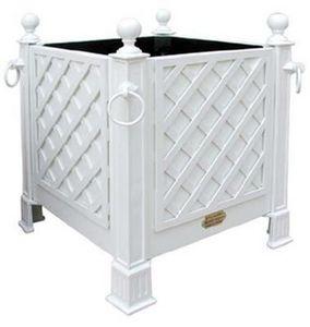 Jardinieres & Interieurs - bac blanc avec treillage - Bac D'orangerie