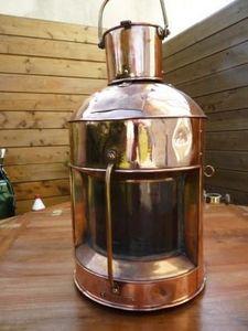 La Timonerie Antiquités marine - grande lanterne en cuivre de bateau - Lanterne D'extérieur