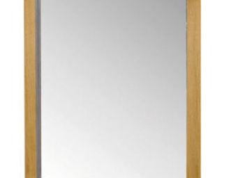 ZAGO - miroir côme en chêne massif 70x6x90cm - Miroir