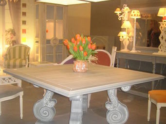 Luc Perron Creation -  - Table De Repas Carrée