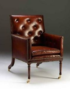 The English House - country house library chair - Fauteuil Club
