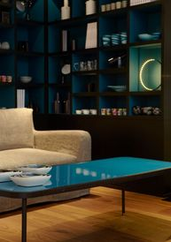 shape table basse rectangulaire bleu turquoise sarah lavoine. Black Bedroom Furniture Sets. Home Design Ideas
