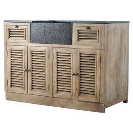 Cuisine l ment bas 120 persiennes meuble de cuisine - Maison du monde meuble cuisine ...